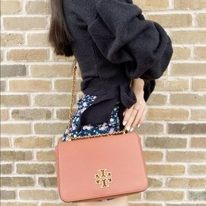 Tory Burch Adjustable Shoulder Bag Leather